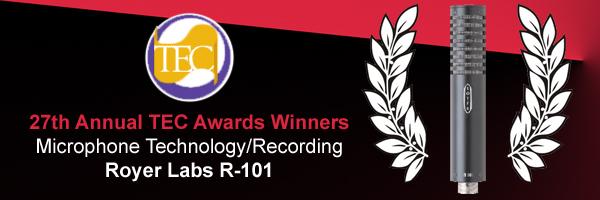 El micrófono R-101 de Royer Labs galardonado en los premios TEC 2012