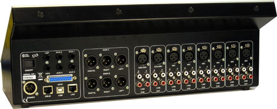 mezclador profesional D3 de Eela Audio
