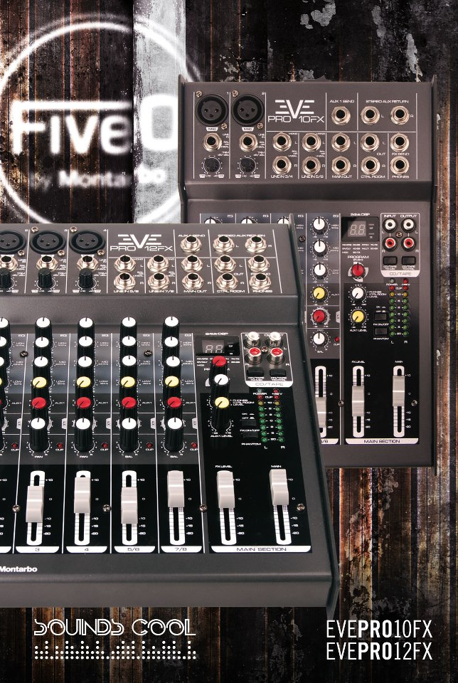 Mixing consoles with DSP EVE PRO 10 FX and EVE PRO 12 FX